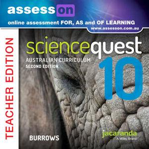 Assesson Science Quest 10 Australian Curriculum Edition Teacher Edition 2E (Online Purchase)