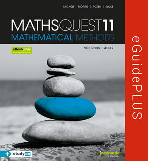 Maths Quest 11 VCE Mathematical Methods eGuidePLUS (Online Purchase)