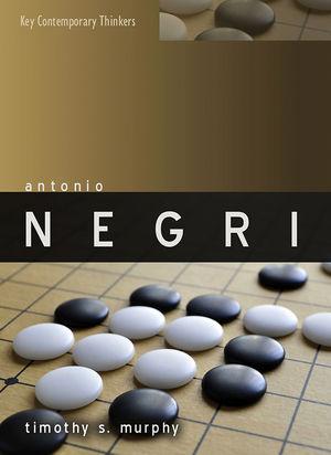 Antonio Negri (0745643205) cover image