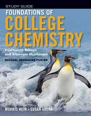 Foundations of College Chemistry, Student Study Guide, 14th Edition (1118289005) cover image