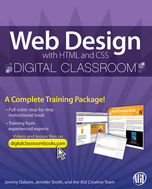Web Design with HTML and CSS Digital Classroom, (Book and Video Training) (0470583606) cover image