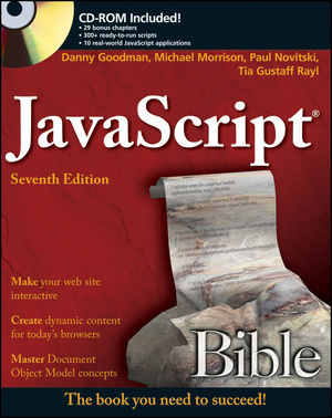 JavaScript Bible, 7th Edition (0470952806) cover image