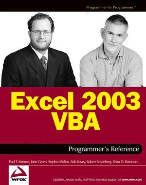 Excel 2003 VBA Programmer
