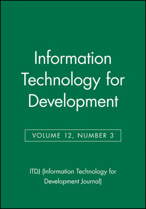Information Technology for Development, Volume 12, Number 3