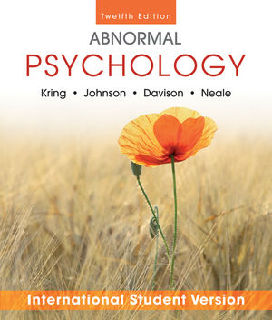 Abnormal Psychology, 12th Edition International Student Version