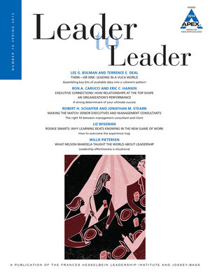 Leader to Leader (LTL), Volume 76, Spring 2015