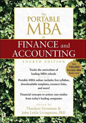 The Portable MBA in Finance and Accounting, 4th Edition (0470481307) cover image