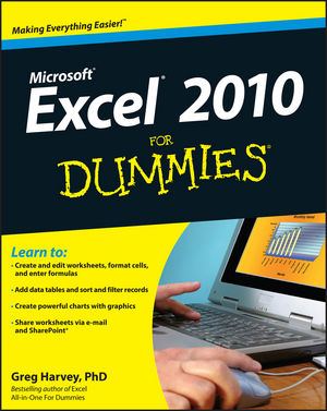 Excel 2010 For Dummies (0470634707) cover image