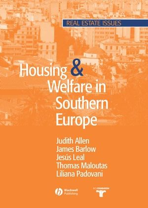 Housing and Welfare in Southern Europe (0470757507) cover image