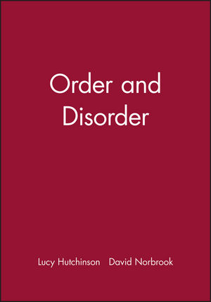 Order and Disorder (0631220607) cover image
