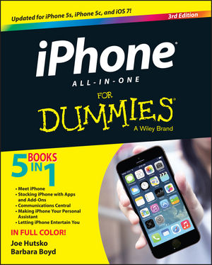 Book Cover Image for iPhone All-in-One For Dummies, 3rd Edition