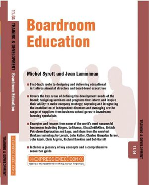 Boardroom Education: Training and Development 11.4 (1841124907) cover image