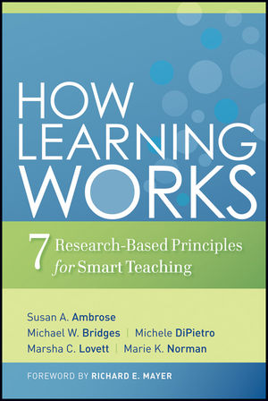 How Learning Works: Seven Research-Based Principles for Smart Teaching (0470617608) cover image