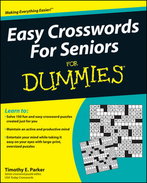 Easy Crosswords For Seniors For Dummies (0470648708) cover image