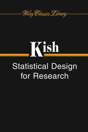 Statistical Design for Research (0471691208) cover image