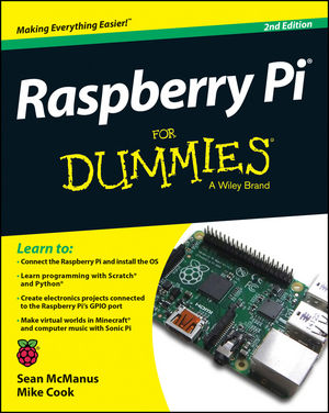 Raspberry Pi For Dummies, 2nd Edition (1118905008) cover image