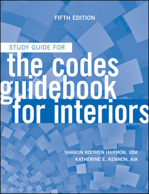 The Codes Guidebook for Interiors, Study Guide, 5th Edition (0470592109) cover image
