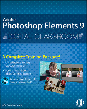 Photoshop Elements 9 Digital Classroom, (Book and Video Training) (0470932309) cover image