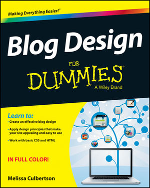 Book Cover Image for Blog Design For Dummies