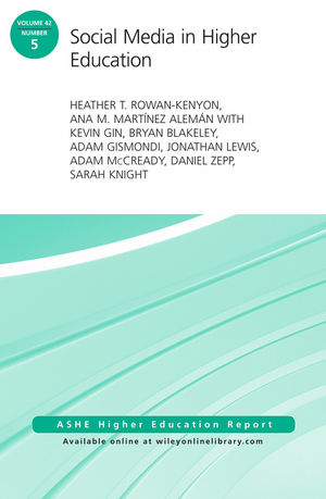 Social Media in Higher Education: ASHE Higher Education Report, Volume 42, Number 5 (1119336309) cover image