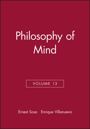 Philosophy of Mind, Volume 13 (1405108509) cover image