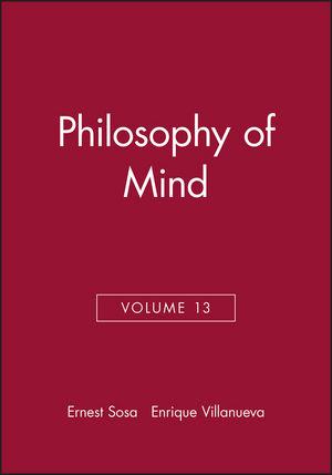 Philosophy of Mind, Volume 13