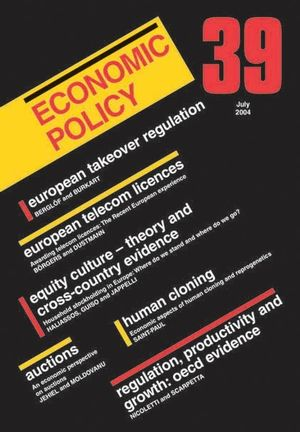 Economic Policy 39 (1405119209) cover image