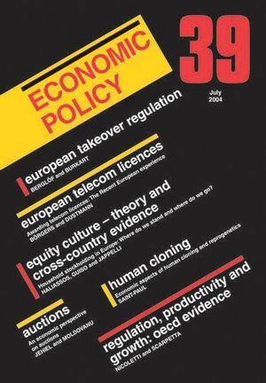 Economic Policy 39