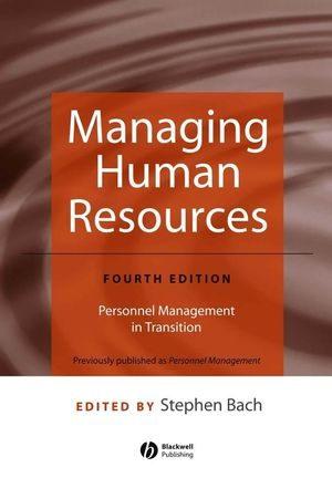Managing Human Resources: Personnel Management in Transition, 4th Edition (1405152109) cover image