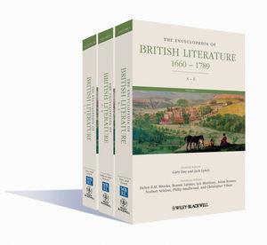 The Encyclopedia Of British Literature 1660 1789 3 Volume Set