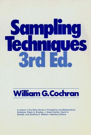 Sampling Techniques, 3rd Edition (047116240X) cover image