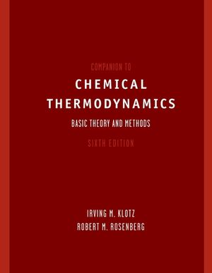 Companion to Chemical Thermodynamics, 6th Edition (047137220X) cover image