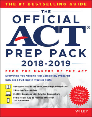 The Official ACT Prep Pack with 6 Full Practice Tests : (4 in Official ACT Prep Guide + 2 Online)