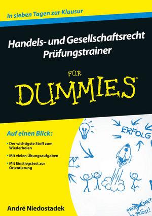 Handels und Gesellschaftsrecht Prüfungstrainer für Dummies