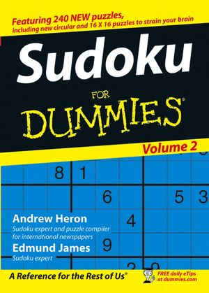 Sudoku For Dummies, Volume 2 (0470026510) cover image