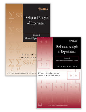Design and Analysis of Experiments Set (0470385510) cover image