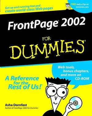 FrontPage 2002 For Dummies (0764508210) cover image