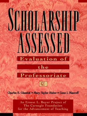Scholarship Assessed: Evaluation of the Professoriate (0787910910) cover image