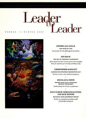 Leader to Leader (LTL), Volume 15, Winter 2000