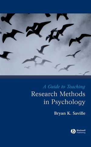 A Guide to Teaching Research Methods in Psychology (1405154810) cover image