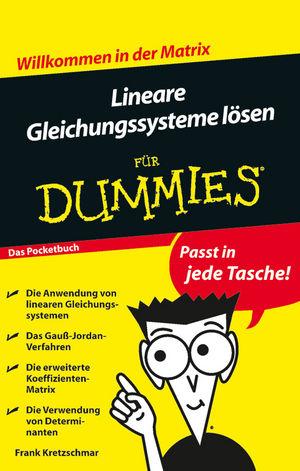 Lineare Gleichungssysteme lösen für Dummies, Das Pocketbuch