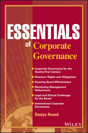 Essentials of Corporate Governance (0470139811) cover image