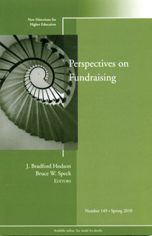 Perspectives on Fund Raising: New Directions for Higher Education, Number 149 (0470635711) cover image