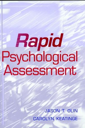 Rapid Psychological Assessment (0471181811) cover image