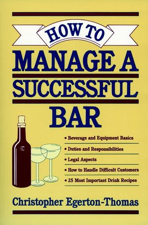 How to Manage a Successful Bar (0471304611) cover image
