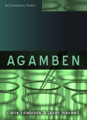 Agamben (0745653111) cover image