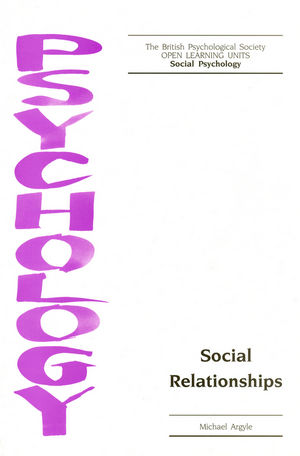 Social Relationships (1854332511) cover image