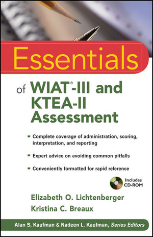 Essentials of WIAT-III and KTEA-II Assessment (0470600012) cover image
