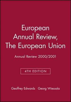 European Annual Review, 4th Edition, The European Union: Annual Review 2000/2001 (0631227512) cover image