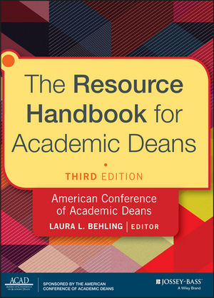 The Resource Handbook for Academic Deans, 3rd Edition (1118720512) cover image